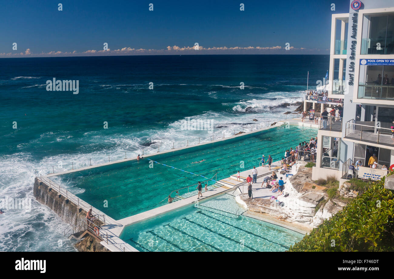 Bondi Icebergs Swimming Pool And Pacific Ocean Sydney New South Wales Stock Photo Royalty Free