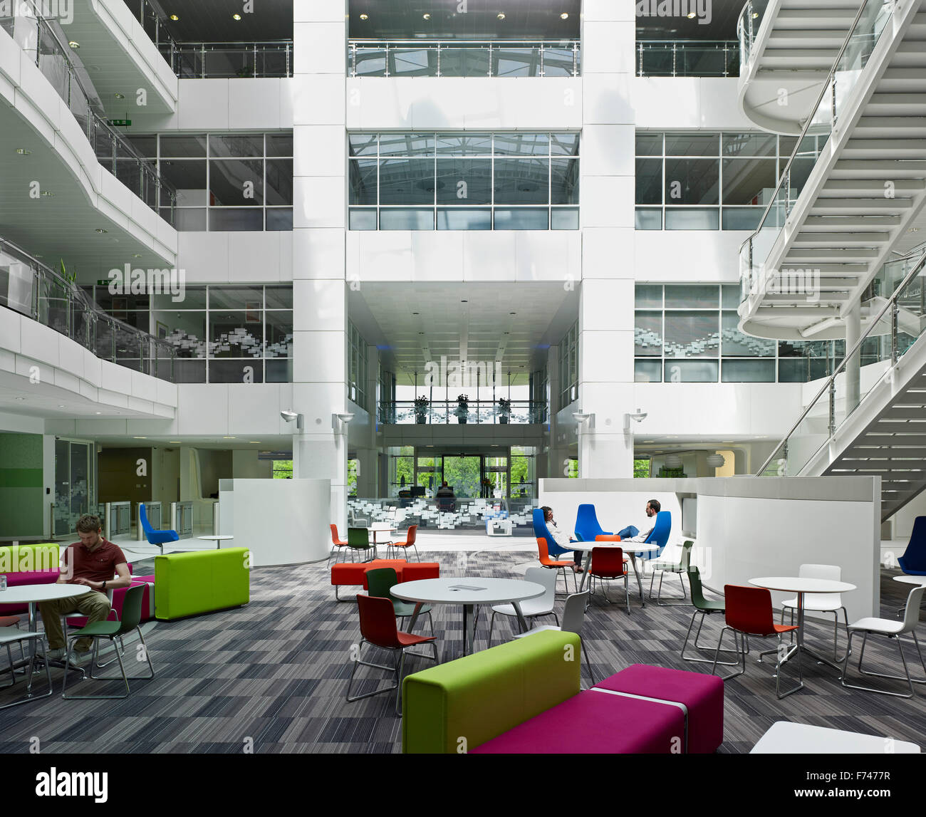 Atrium Lounge With Seating In Microsoft Campus, Thames