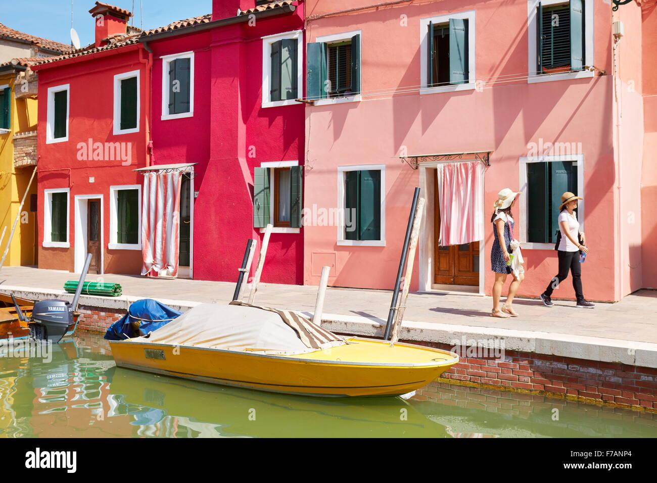 Colorful burano italy burano tourism - Colored Houses In Burano Village Near Venice Burano Lagoon Island Italy