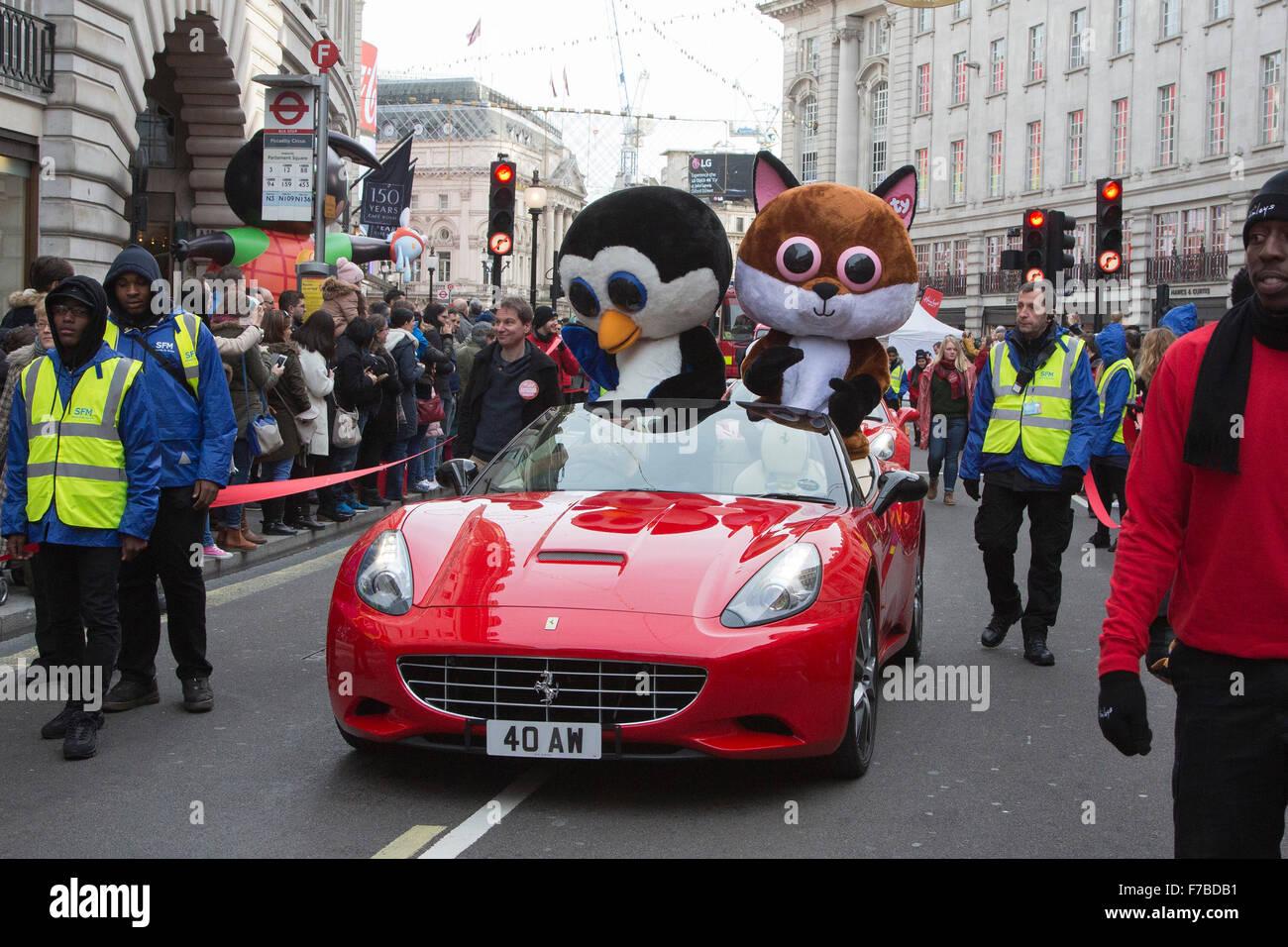 London UK 28 November 2015 Beanie Boos characters on parade
