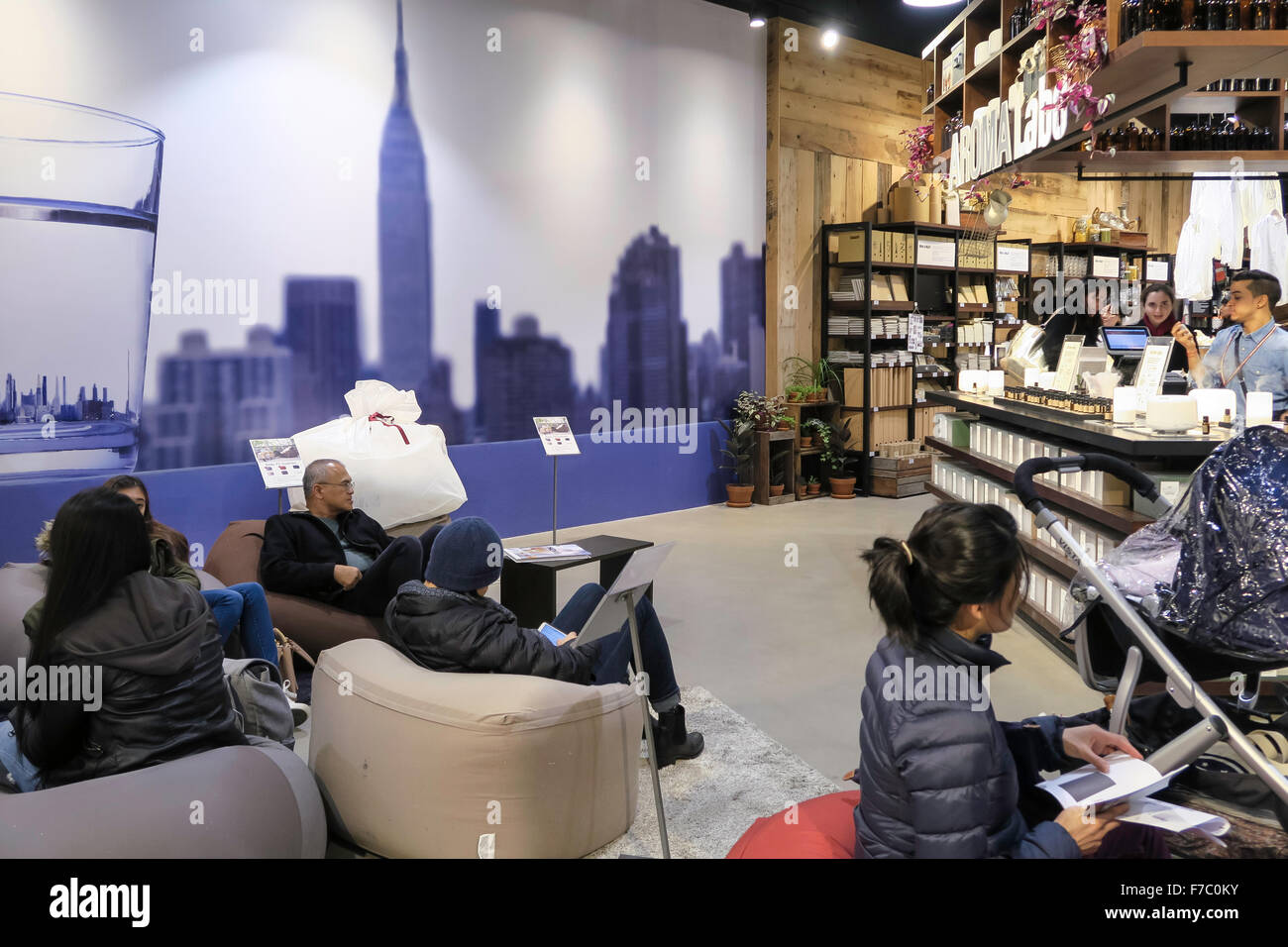 Muji Flagship Store On Fifth Avenue Nyc Stock Photo