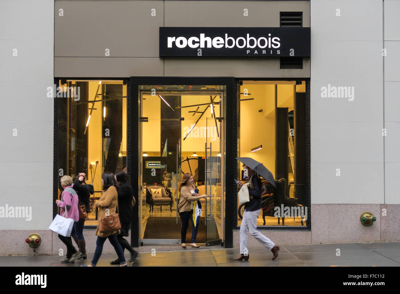 Roche Bobois Furniture Store Nyc Stock Photo Royalty