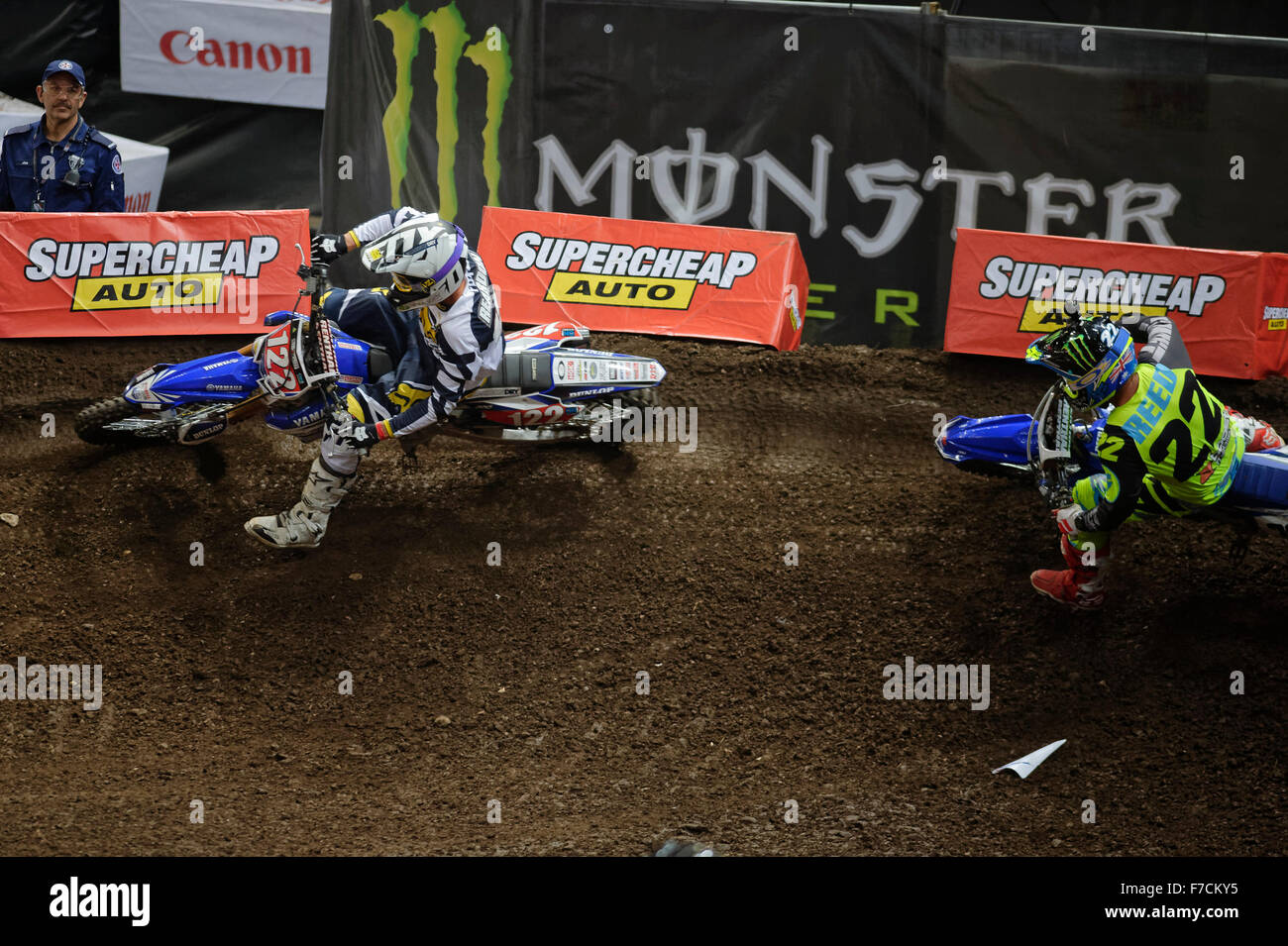 Sydney Olympic Park Australia 29th Nov 2015 The AUS X Open Motocross Day Two Chad Reed Rider Of 22 Yamaha Closes In On 122 Daniel