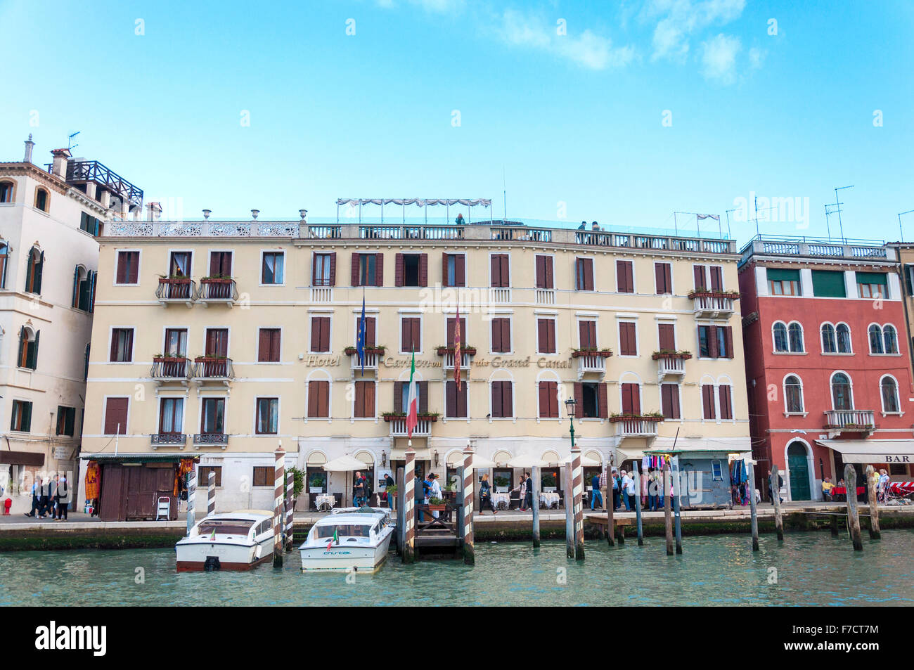 hotel carlton on the grand canal venice italy stock. Black Bedroom Furniture Sets. Home Design Ideas