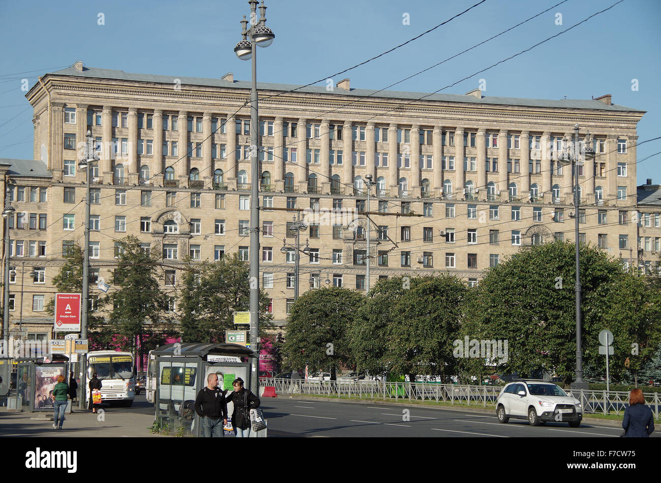 st petersburg russia stalinist apartment blocks stock photo royalty free image 90637657 alamy. Black Bedroom Furniture Sets. Home Design Ideas