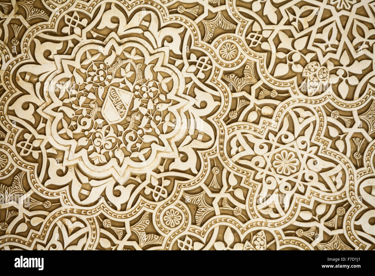Close up shot of some arabic decorations at the alhambra for Alhambra decoration