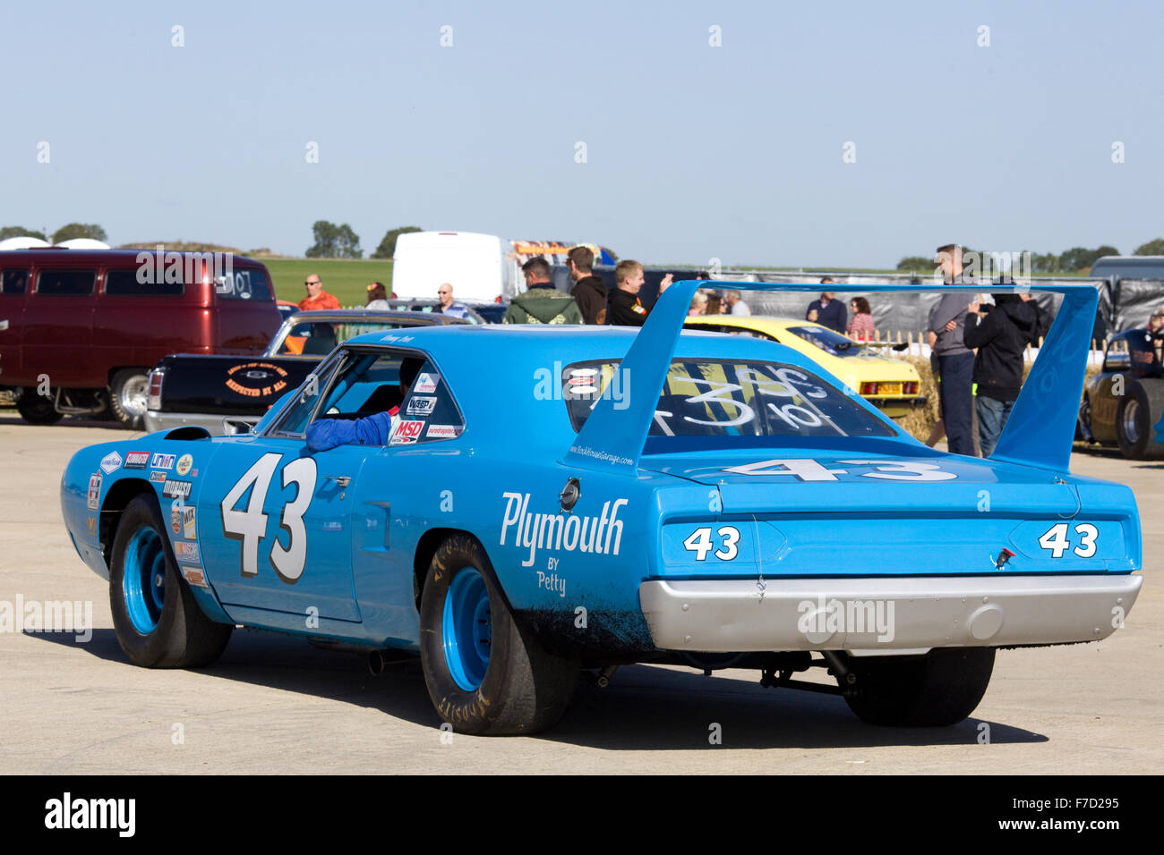 Plymouth Road Runner Race Car On Its Way To The Start Line