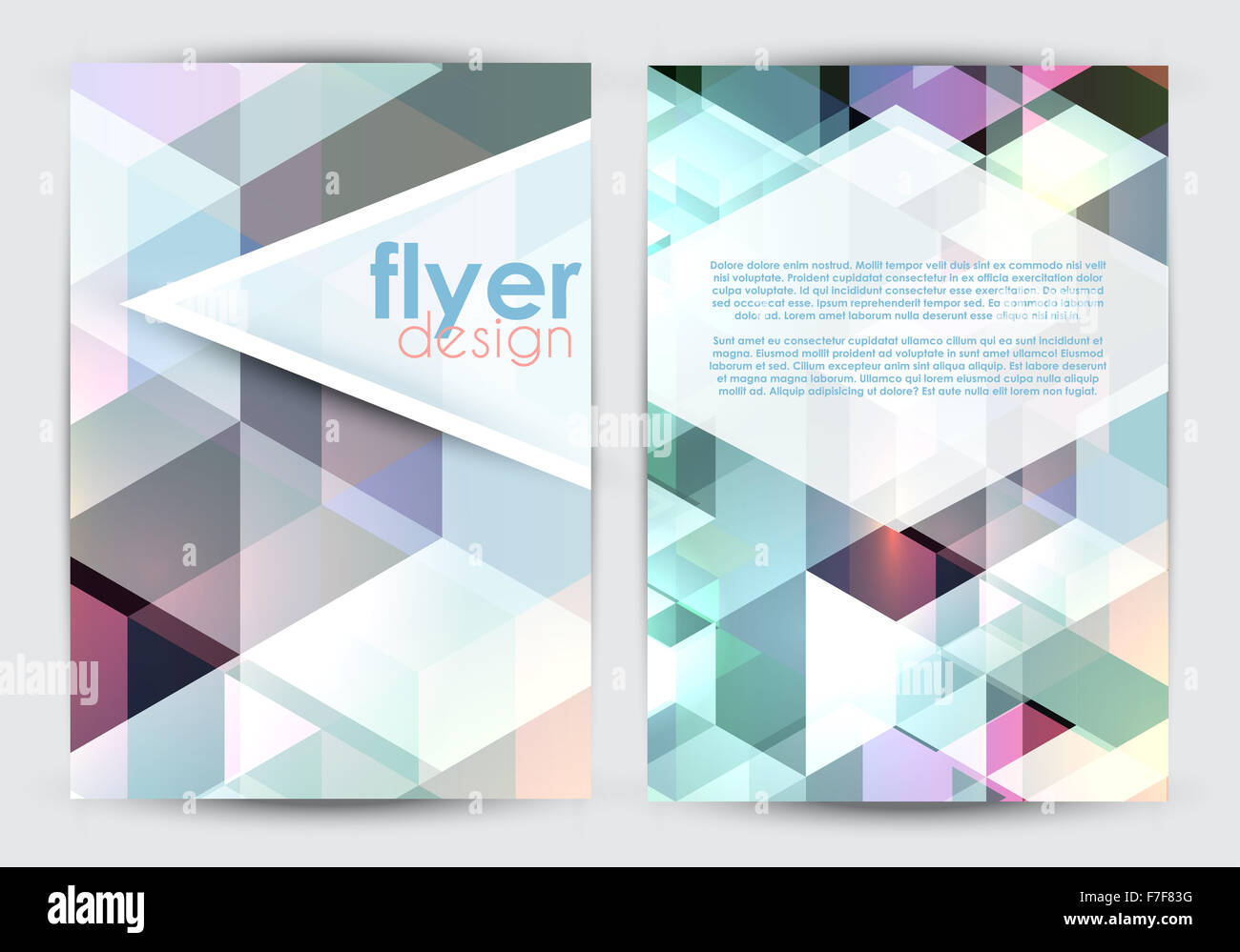 double sided brochure template word