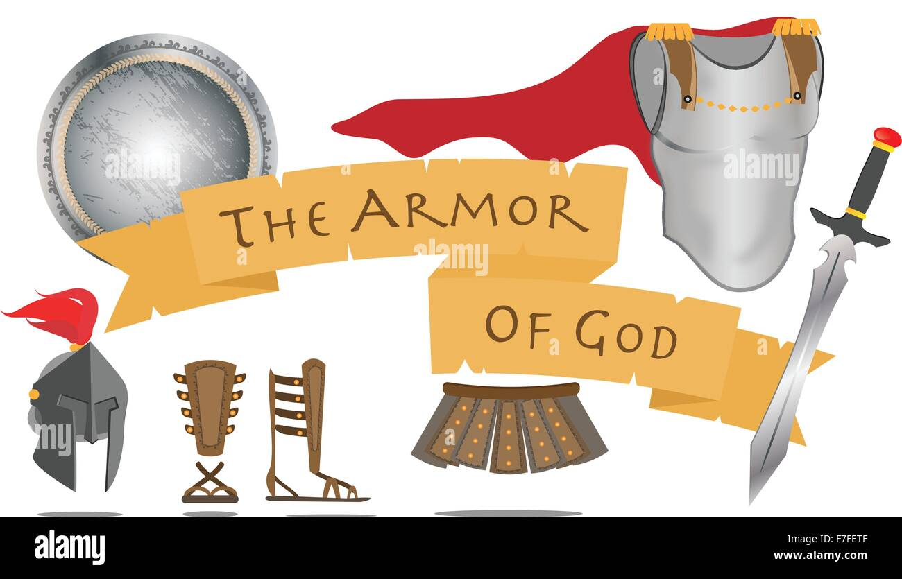 armor of god christianity warrior jesus christ spirit sign vector