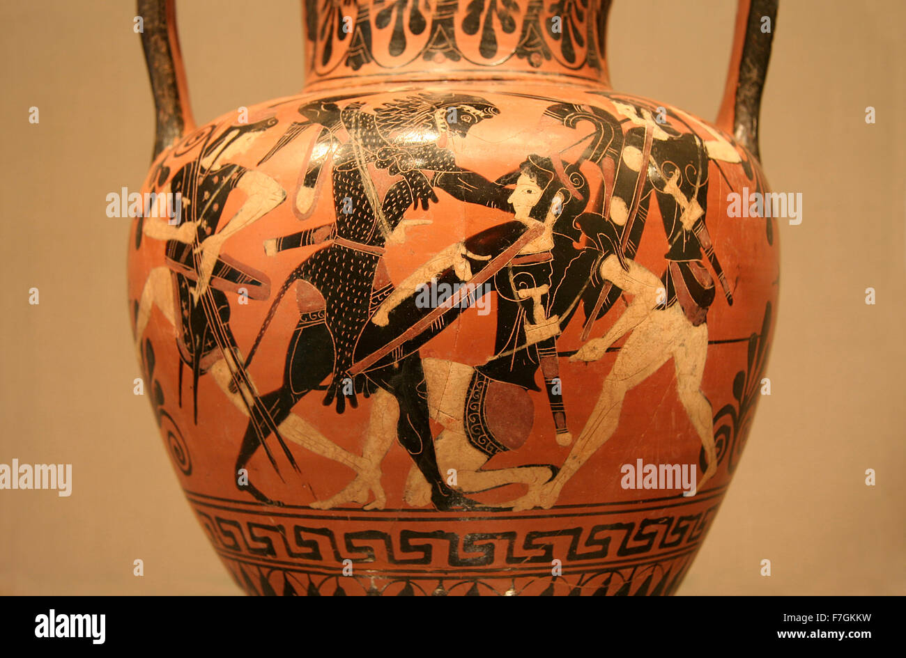 Ancient greek vase stock photos ancient greek vase stock images ancient greek vase paintings in black over red ceramic isolated over white background stock reviewsmspy