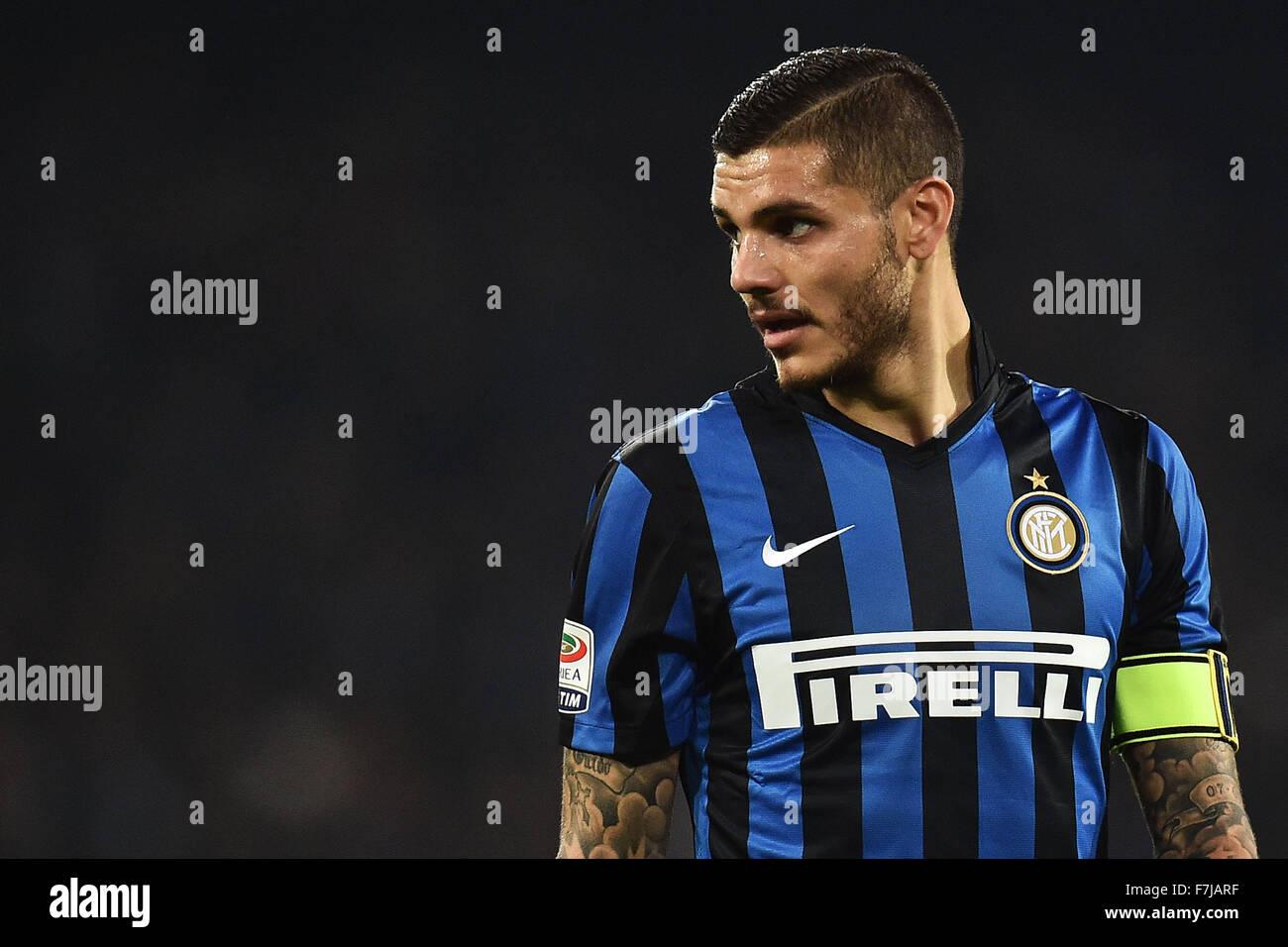 Italy 30th November 2015 Inter forward Mauro Icardi Napoli
