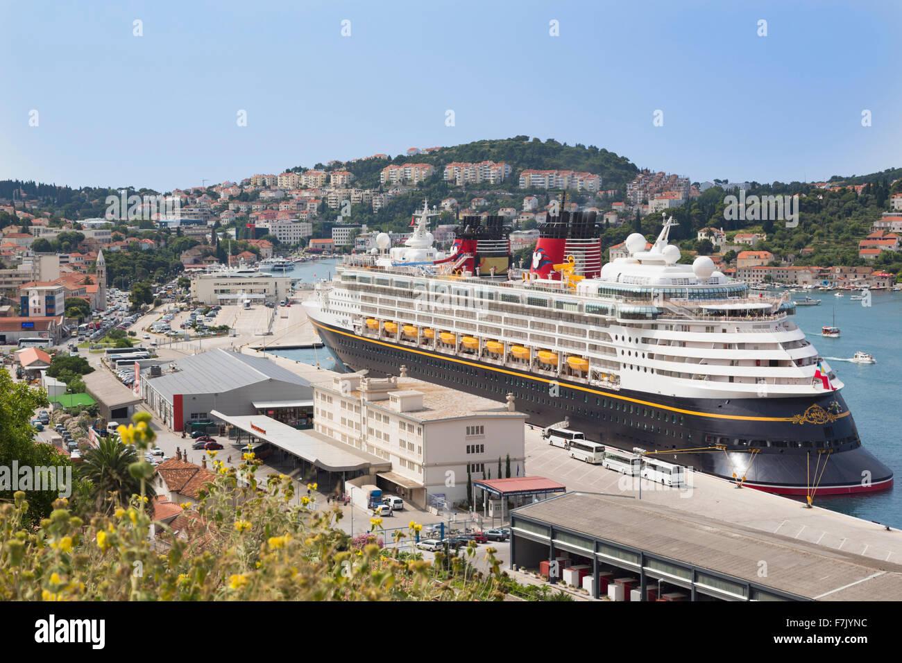 Dubrovnik Dalmatia Croatia The Disney Magic Cruise Ship Docked - Disney magic cruise ship pictures