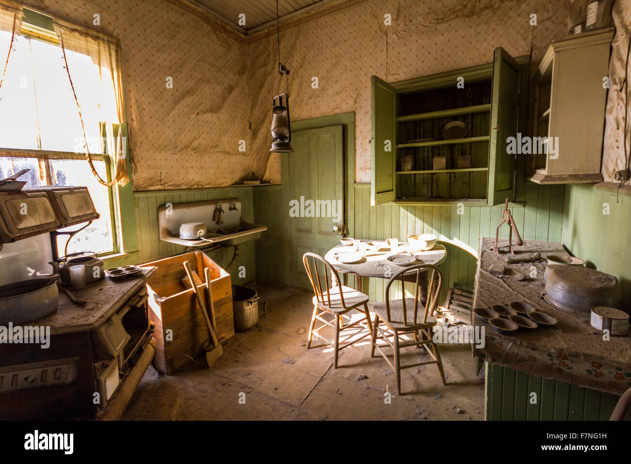Old living room in Ghost Town Bodie Stock Photo, Royalty Free ...
