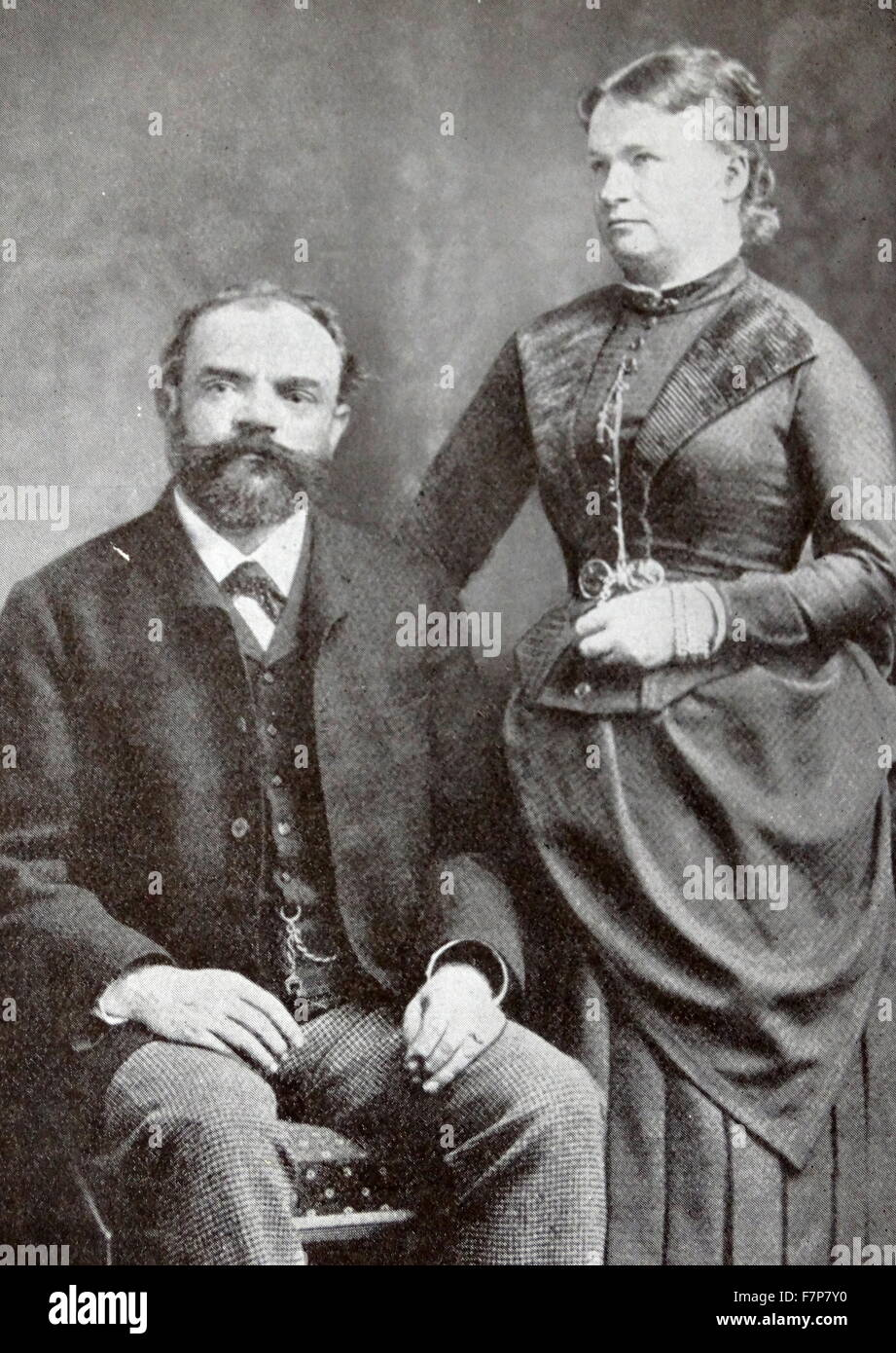 Antonin dvorak 1814 1904 czech composer and his wife for Mobel dvorak