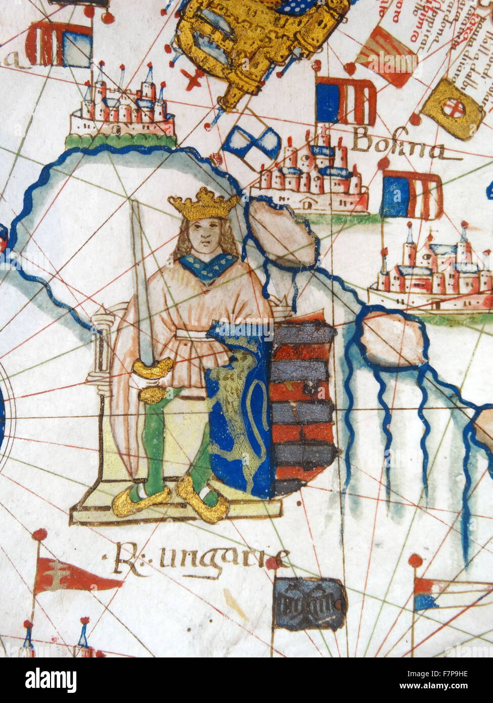 renaissance map of europe jacopo russo 1528 showing john