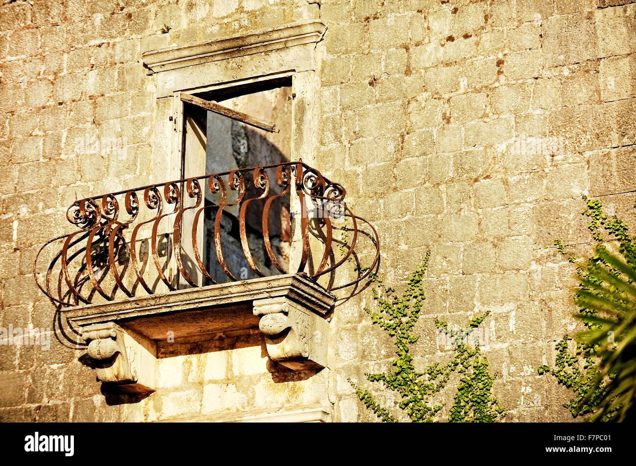 Detail Wrought Iron Balcony Stock Photos & Detail Wrought Iron ...