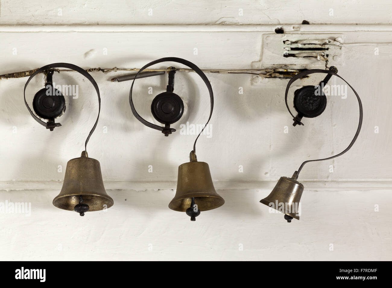 Wonderful Servants Bells In The Kitchen At Eyam Hall And Craft Centre, Derbyshire.  Eyam Hall Is An Unspoilt Example Of A Gritstone Jacobean Manor House, ...