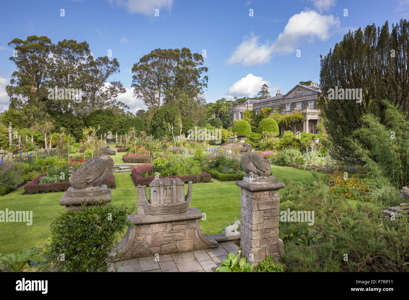The Formal Garden seen from the Dodo Terrace at Mount Stewart