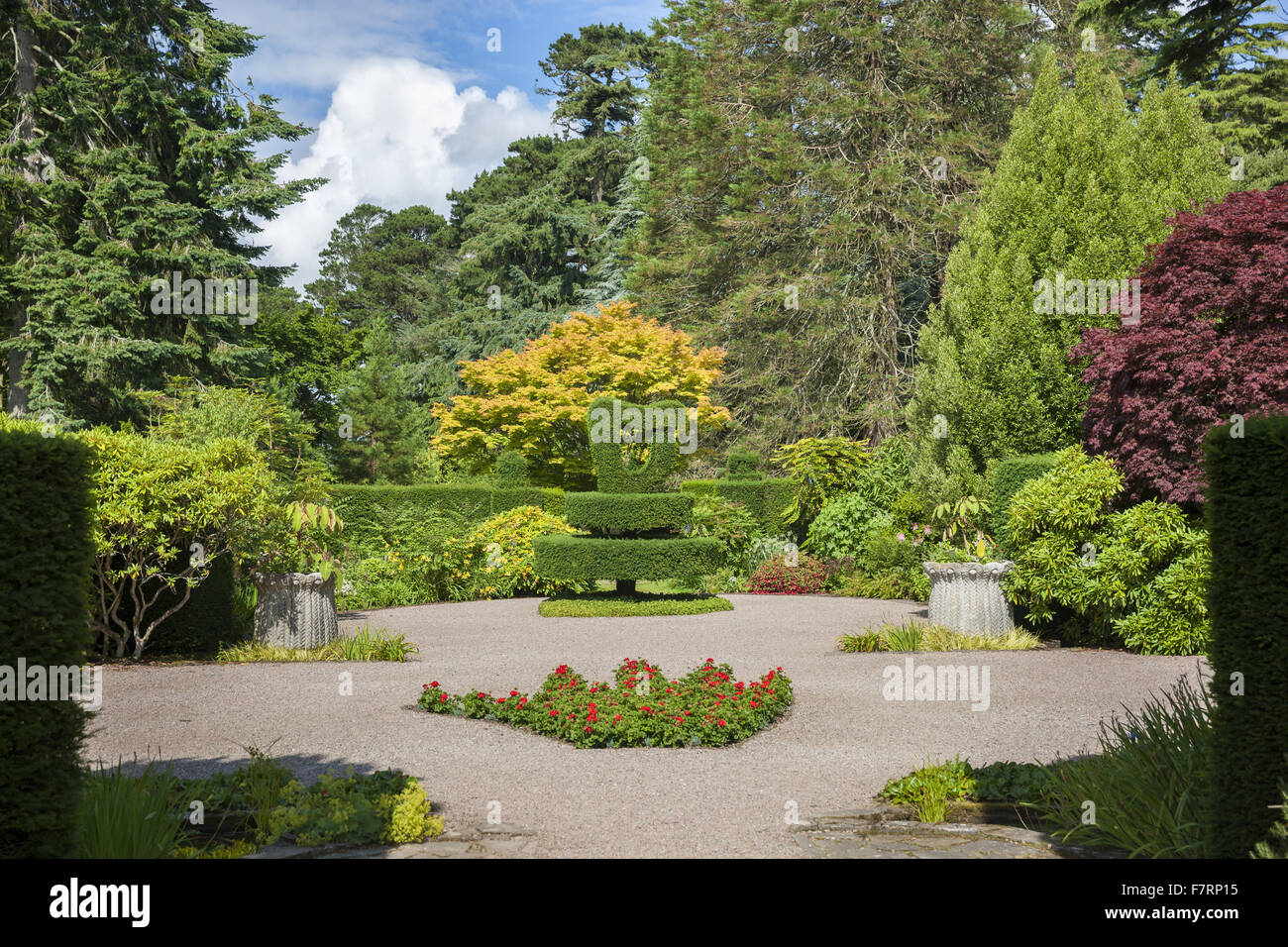 Shamrock Garden at Mount Stewart County Down Mount Stewart has