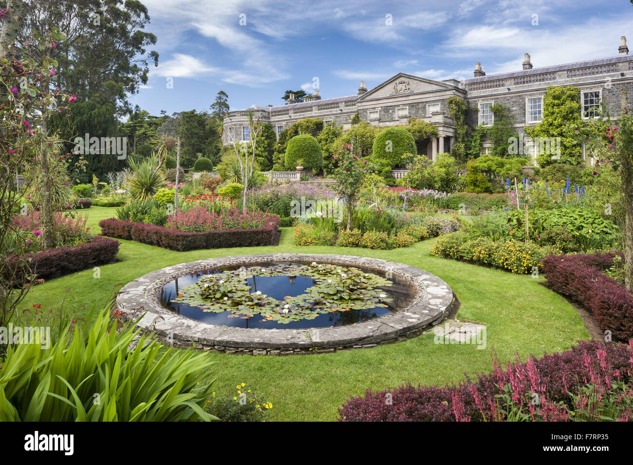 The south front and formal garden at Mount Stewart County Down
