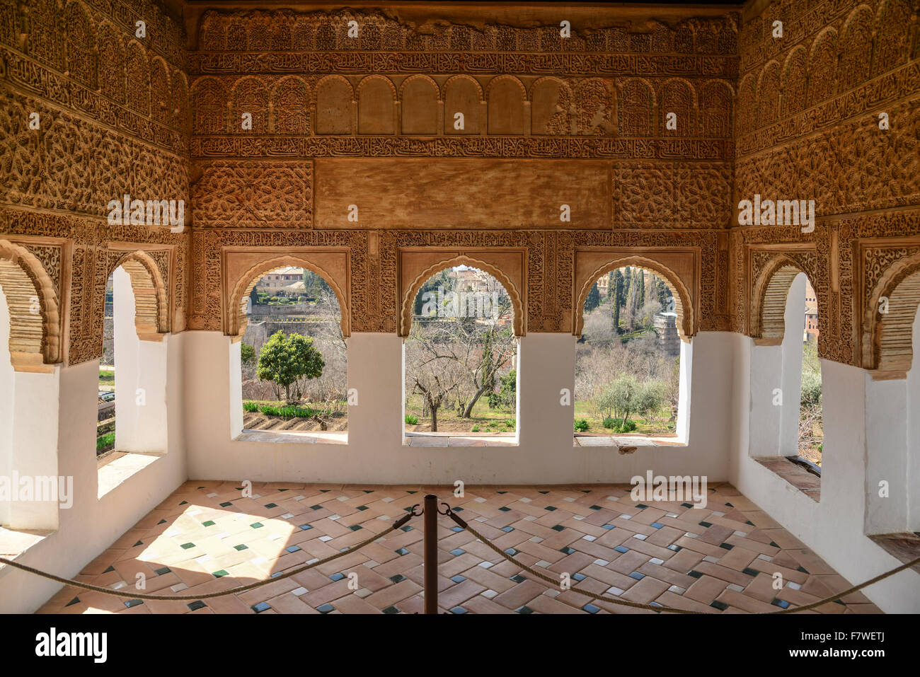 Interior of Palace Generalife, Alhambra, Granada, Spain