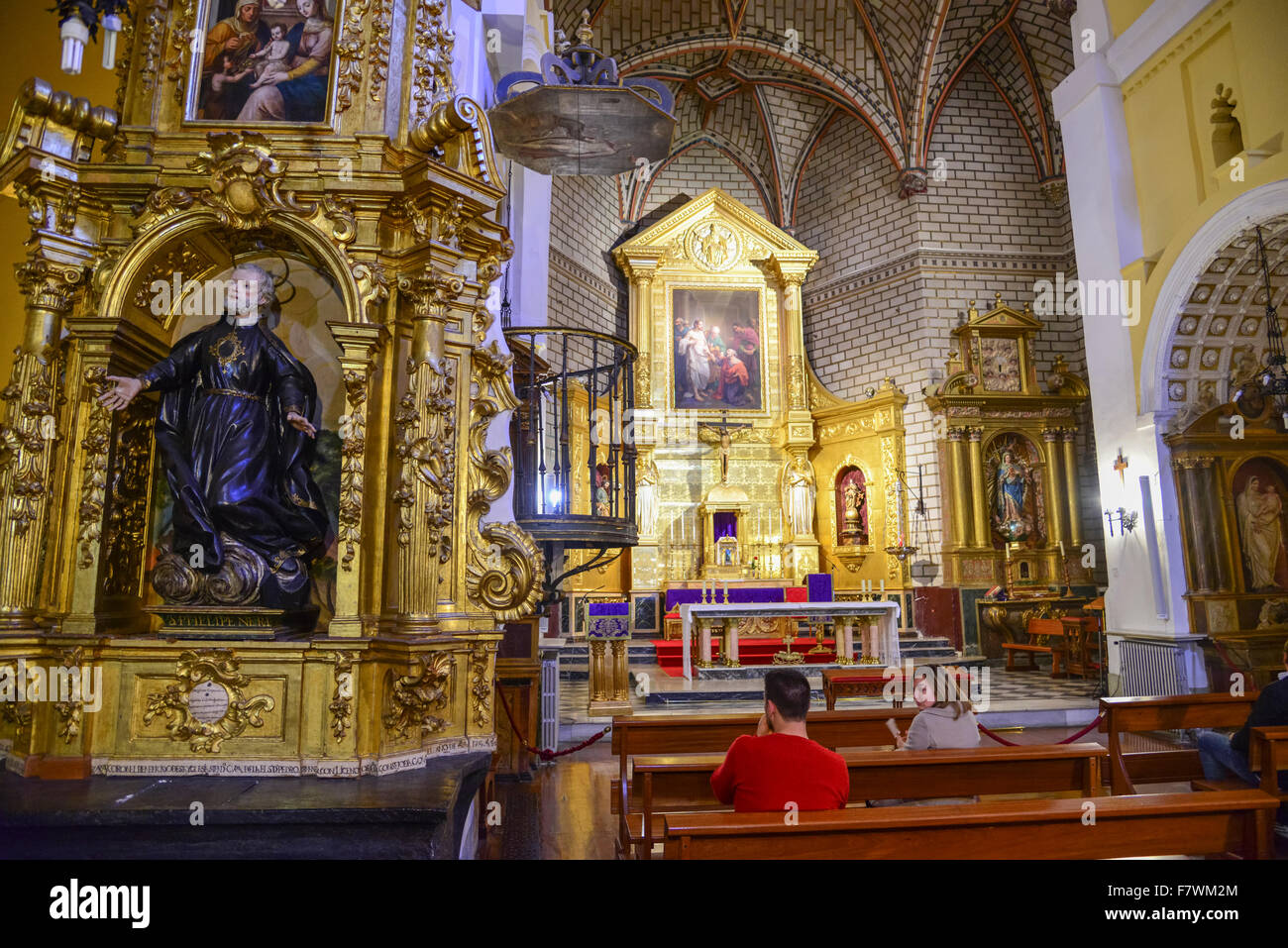 Interior of Iglesia de Santo Tome, Toledo, Spain Stock ...