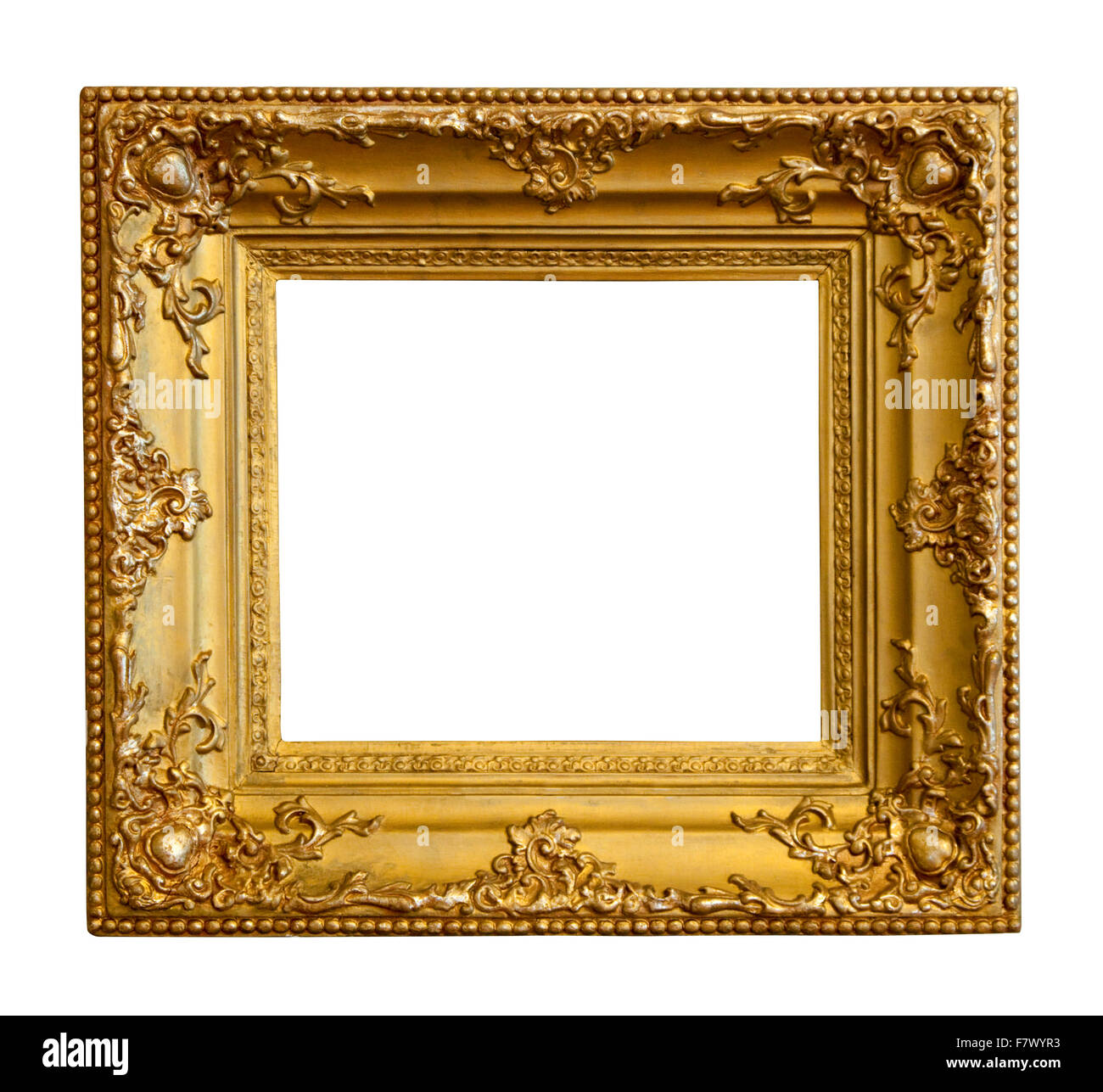 Luxury gilded frame isolated over white background with clipping luxury gilded frame isolated over white background with clipping path jeuxipadfo Gallery