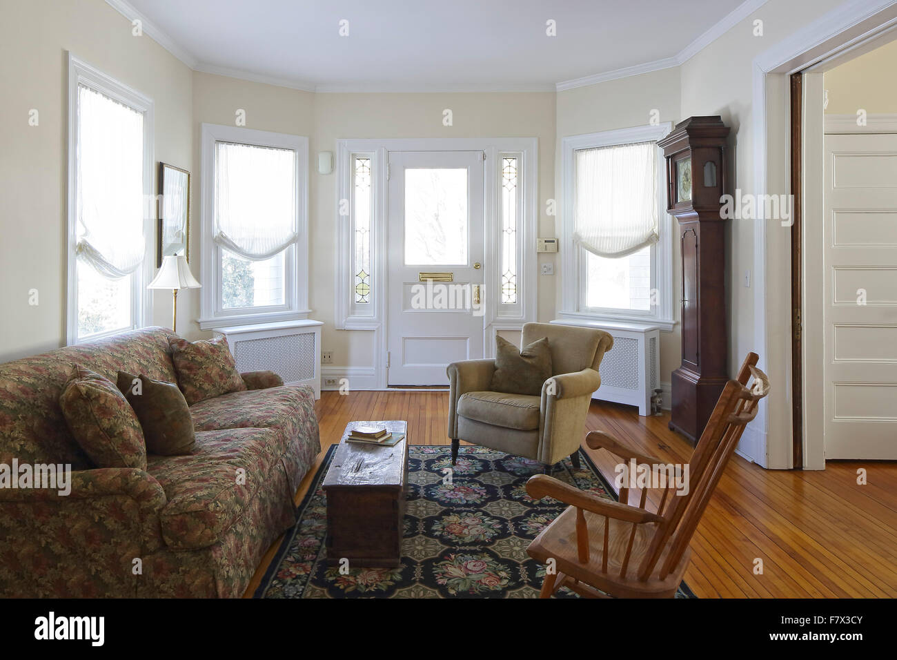 Living Room Victorian House Main Reception Room Living Room Parlor With View Of Front Stock