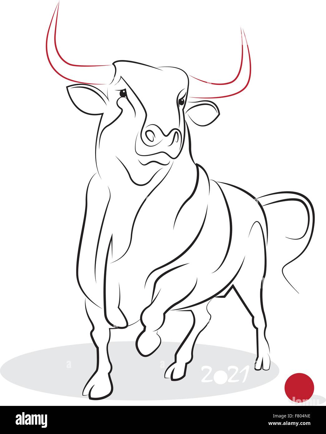 Chinese new year 2021 of the Ox (Ox year). Greeting or ...