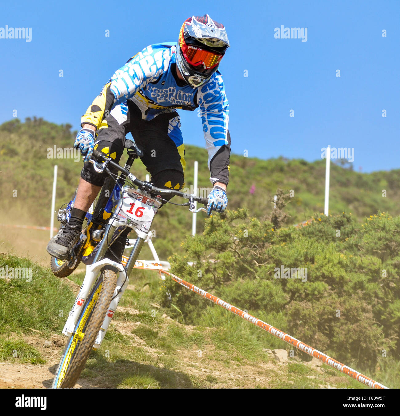 Extreme Sports Downhill Mountain Bike Race In The Uk Wales Great
