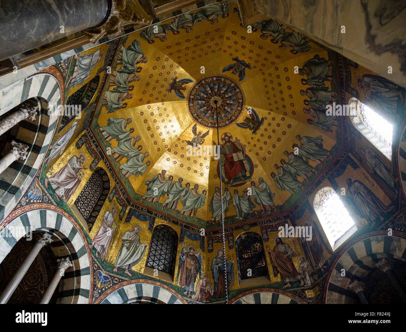the ceiling vault of the palatine chapel in the aachen aix la chapelle aix la chapelle cathedral