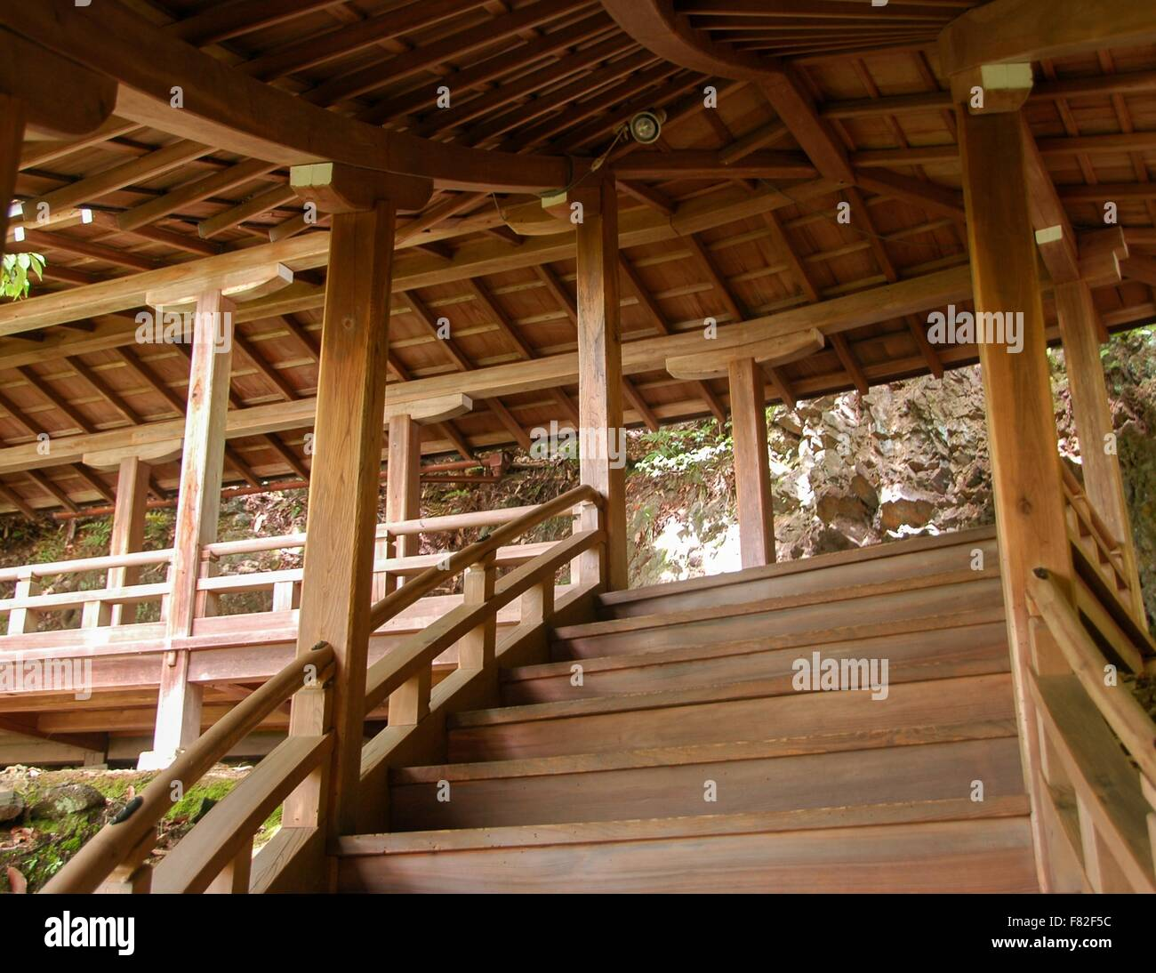 Amazing Woodworking: Amazing Woodwork At A Temple In Kyoto, Japan Stock Photo