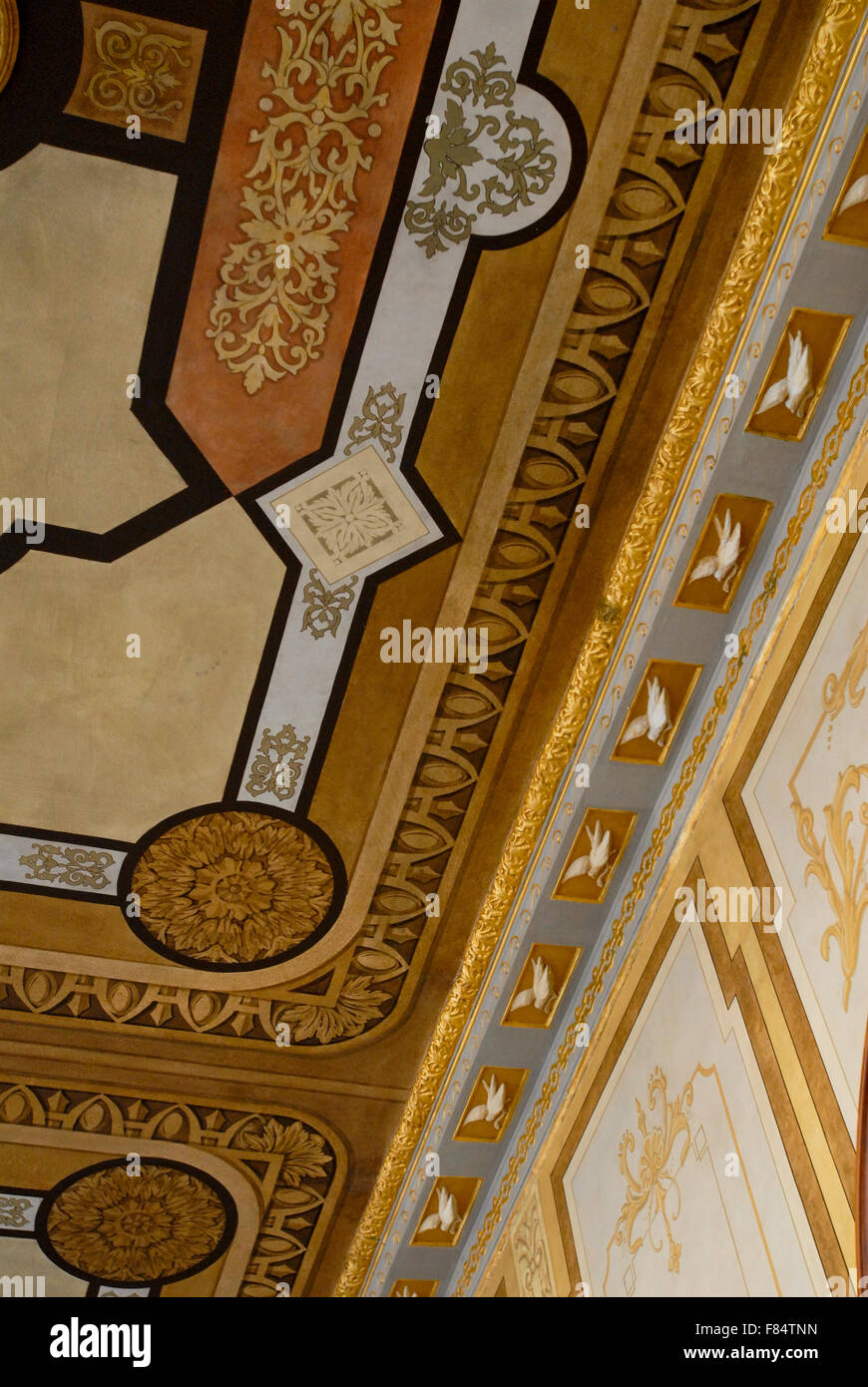 "hand painted wall and ceiling decoration in ""chapultepec castle"