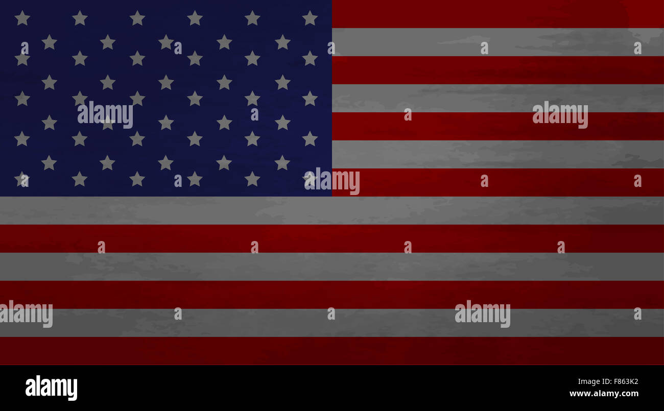 Grunge Messy Flag USA America American Old Dirty National Stock - How old is the united states of america