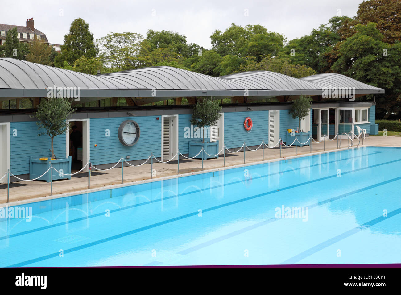 The Open Air Swimming Pool Close To The River Thames At