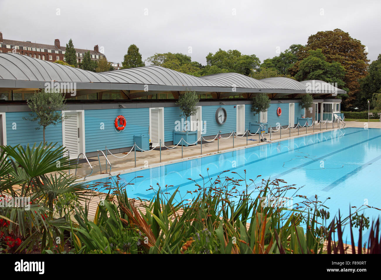 The Open Air Swimming Pool Close To The River Thames At London 39 S Stock Photo Royalty Free Image