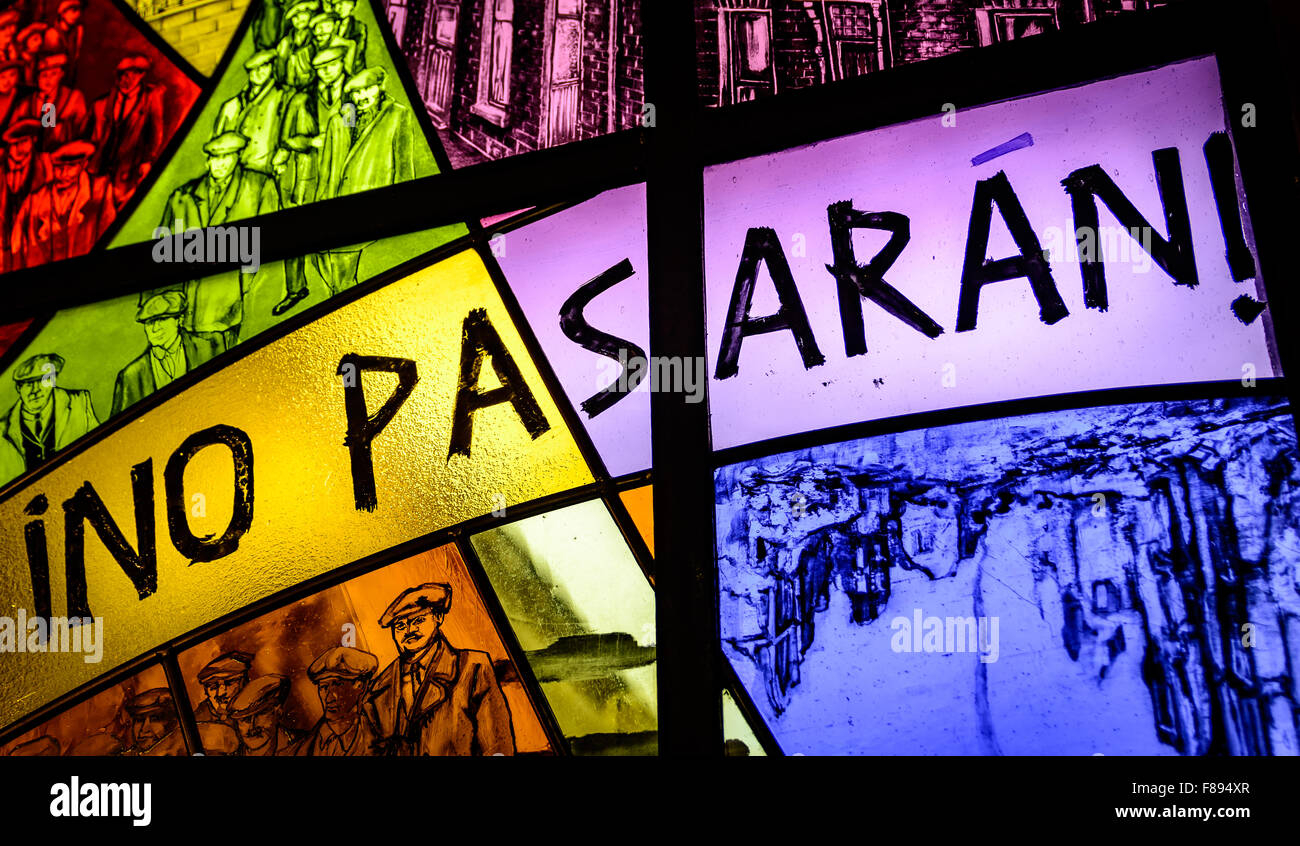 new no pasaran anti fascist stained glass tribute in belfast s