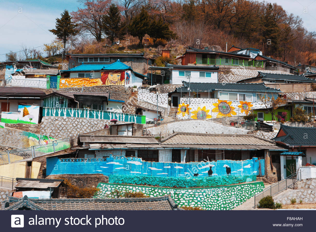 Mural village stock photo royalty free image 91202233 for Mural village