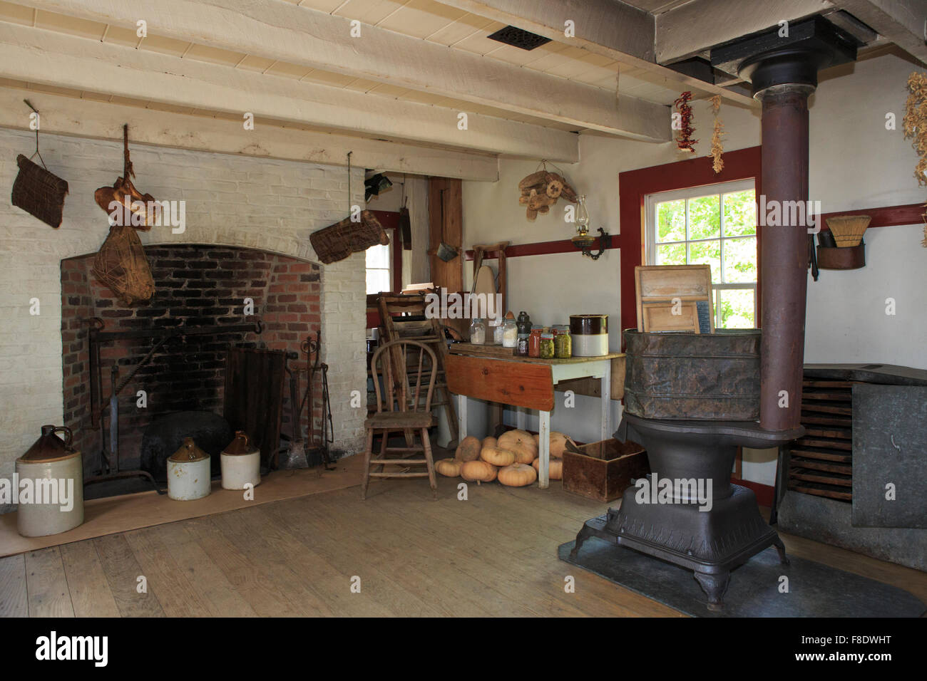 Summer kitchen at an old farmhouse Stock Photo, Royalty Free Image ...