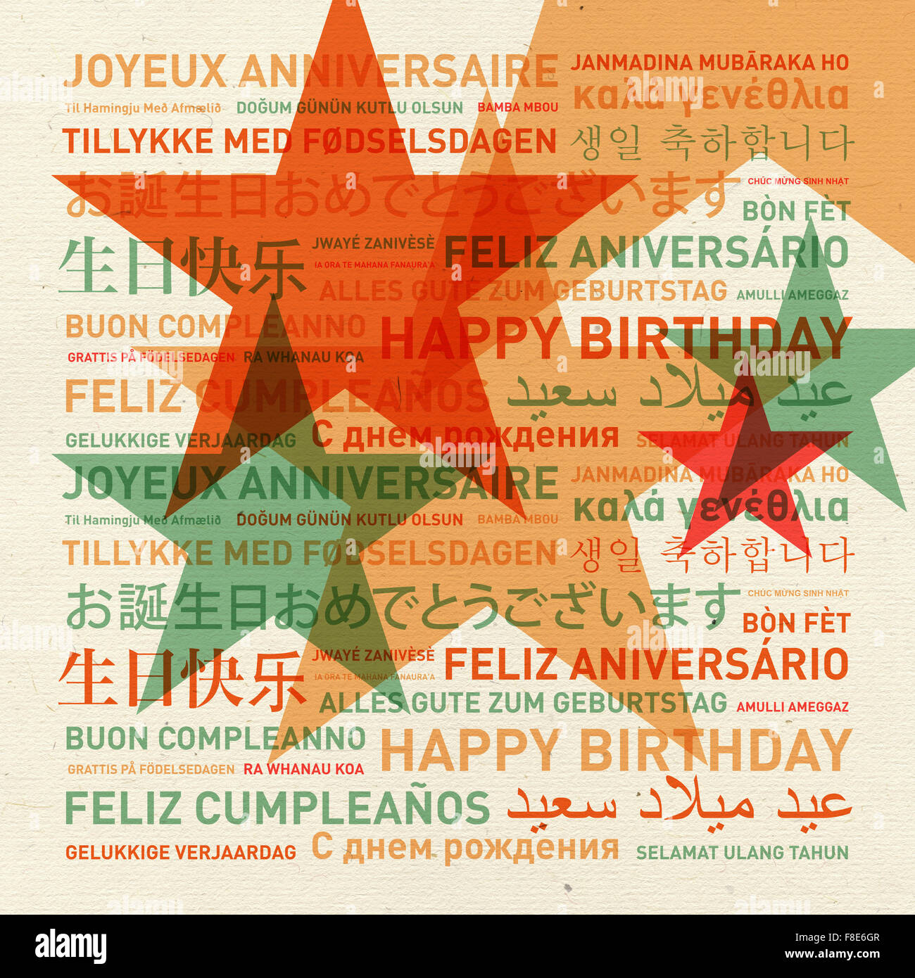 Happy birthday in different languages stock photo 125037169 alamy happy birthday card from the world in different languages stock photo kristyandbryce Image collections
