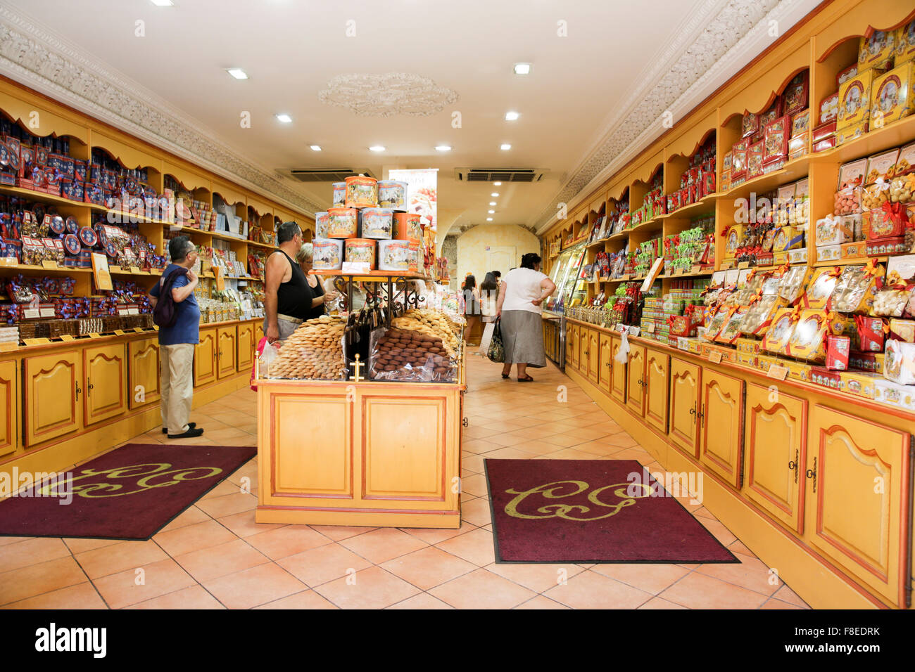 interior of a confectionery shop nice france stock photo. Black Bedroom Furniture Sets. Home Design Ideas