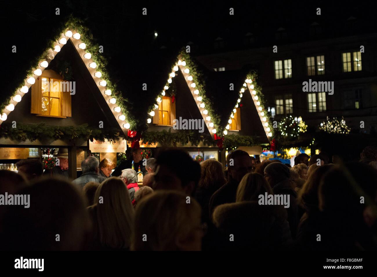 Christmas market in Stuttgart, Germany. One of Europe's biggest ...