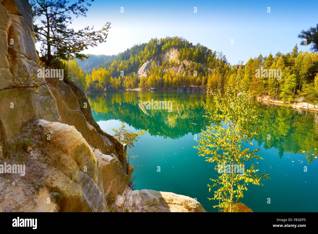 Adrspach Lake Czech Republic Stock Photo Royalty Free
