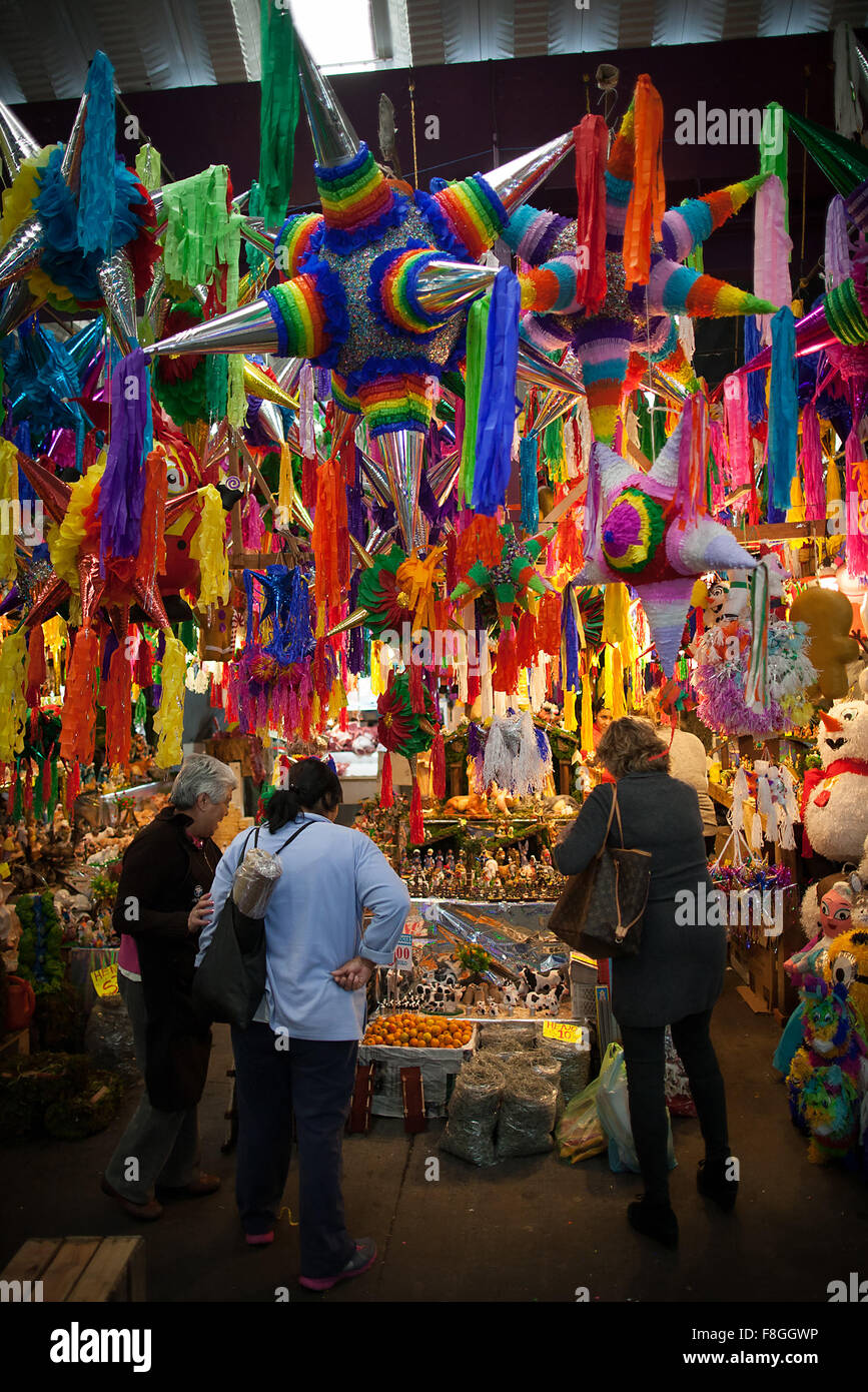 mexico city mexico 9th dec 2015 pinatas are displayed for sale