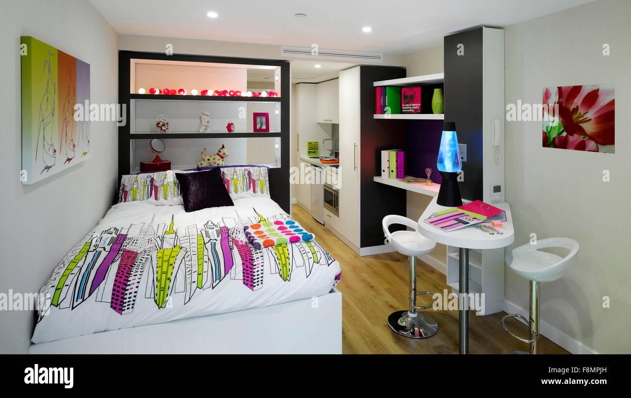 Studio Apartment Manchester student castle, manchester. student accommodation. studio