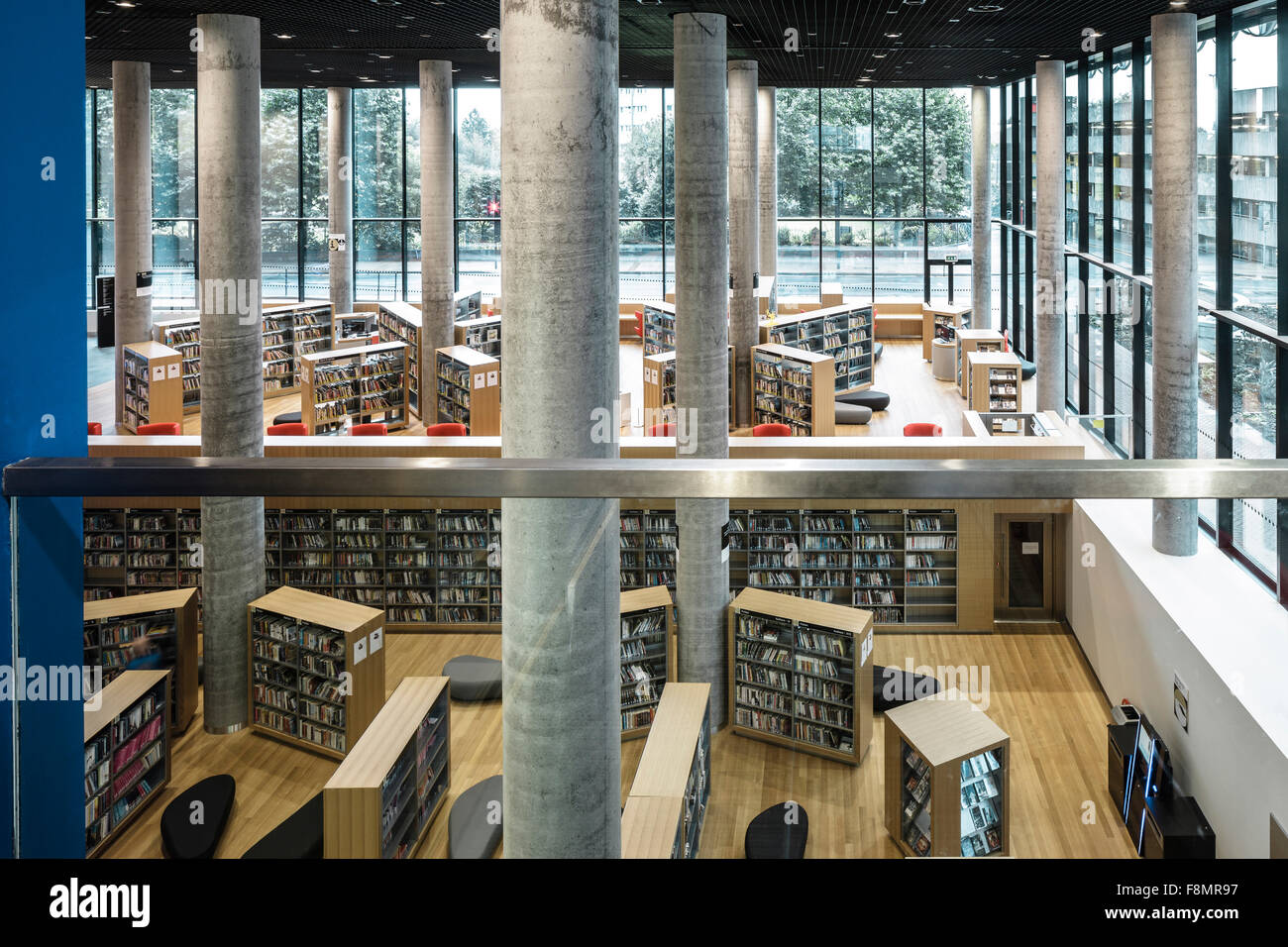 Interior view of the birmingham library bookshelves and for Interior design birmingham