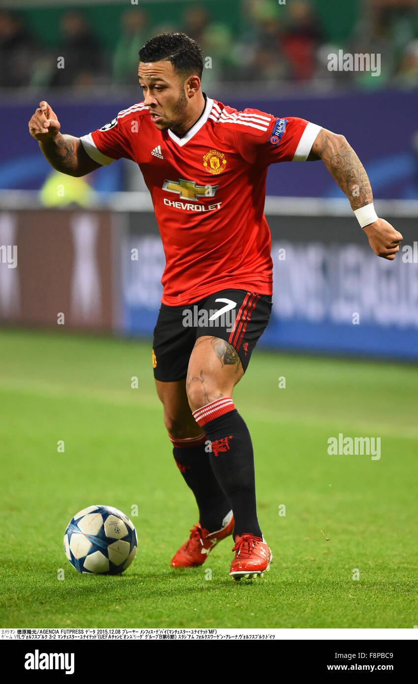 Wolfsburg Germany 8th Dec 2015 Memphis Depay Man U Stock