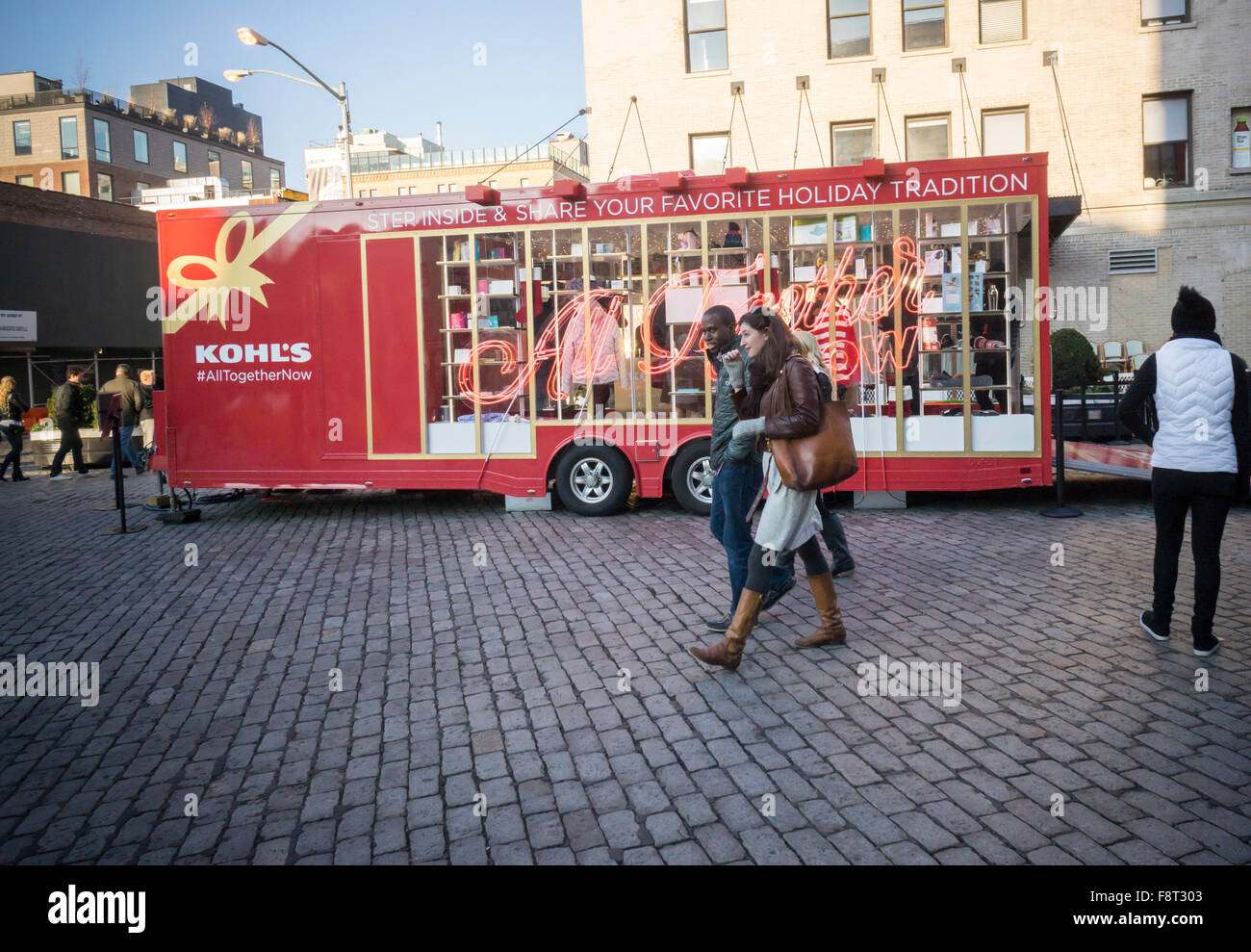 Kohl's department store presented its pop-up trailer promoting ...