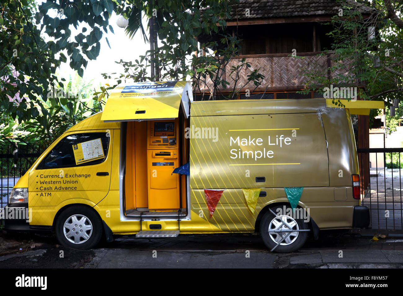 Mobile atm in a van chiang mai thailand stock photo for Thailand mobel
