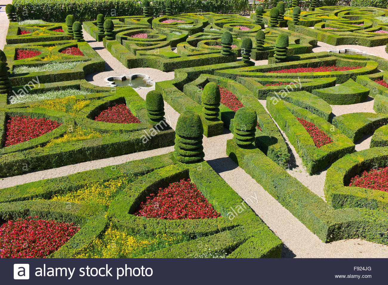 Overlooking the ornamental garden with clipped buxus for Ornamental garden